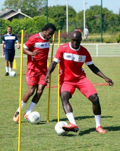 Le 1er juillet pour la reprise de l'entraînement, Yannick Sagbo était bien présent. Grégory YETCHMENIZA/Le Dauphiné Libéré