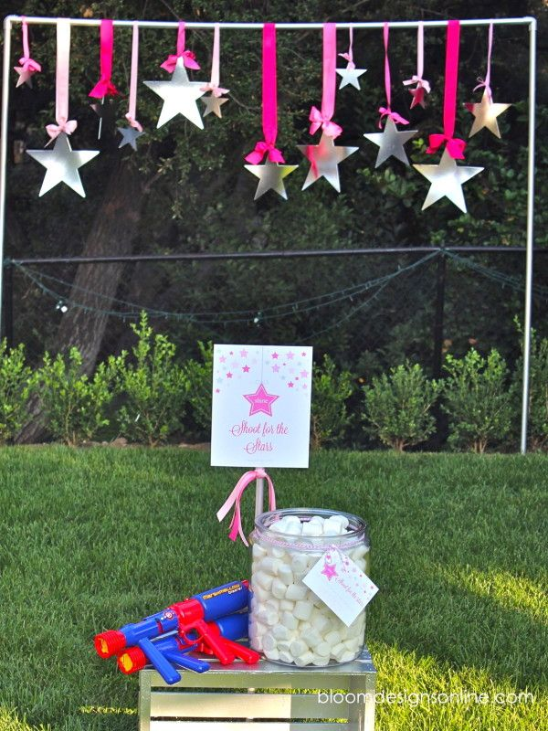 Design Dazzle Summer Camp: shoot for the stars game. Great idea for boys or girls!
