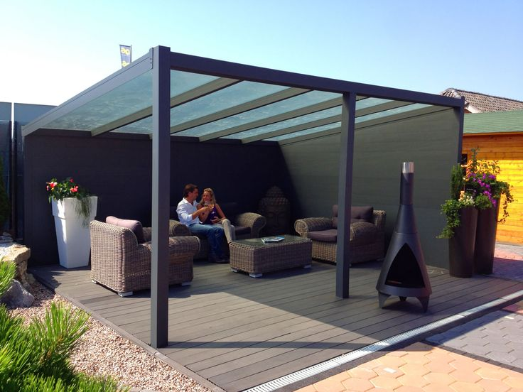 A Glass Prepared Aluminium Garden Canopy / Veranda With A Depth Of 2.0m,  This