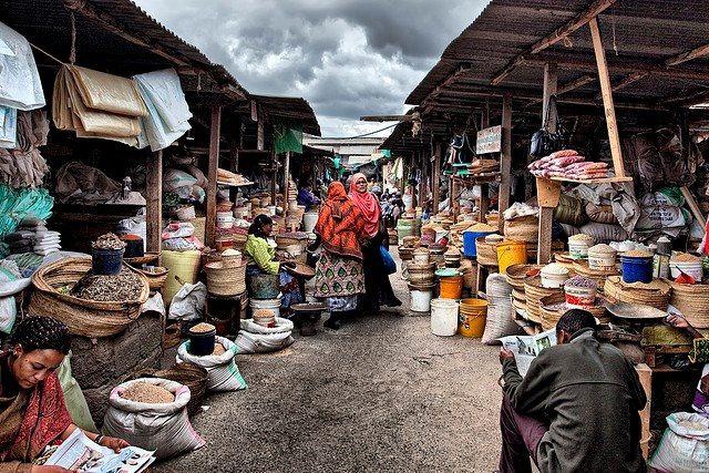 Arusha market in Tanzania