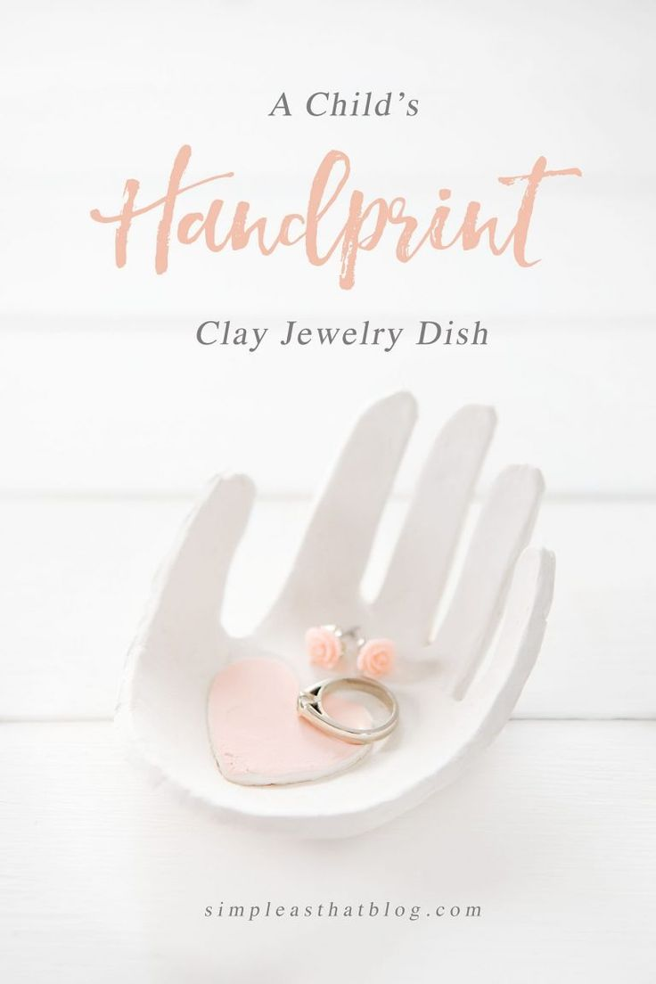Create a keepsake handprint jewelry dish out of clay using your child's hand – they're easy to make and are a darling gift idea to keep in mind for Mother's Day. MichaelsMakers Simple As That