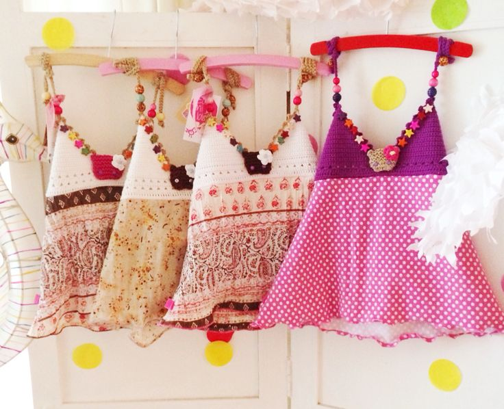 Cute handmade surf tops for little girls with Wolfje #girls #crochet #handmade #zolamilola
