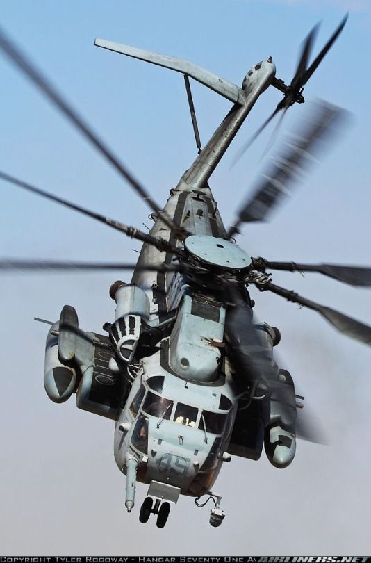 Sikorsky CH-53E Super Stallion (the largest helicopter in the US military)