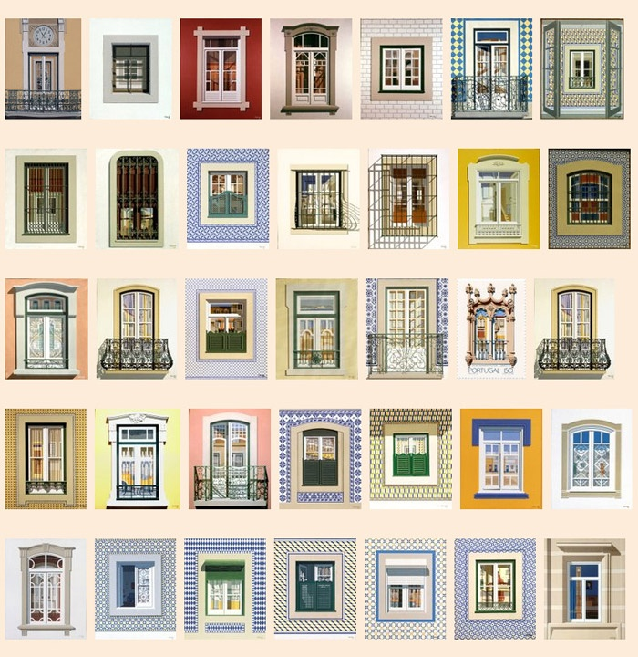 Works by Maluda. Windows of #Lisbon #Portugal