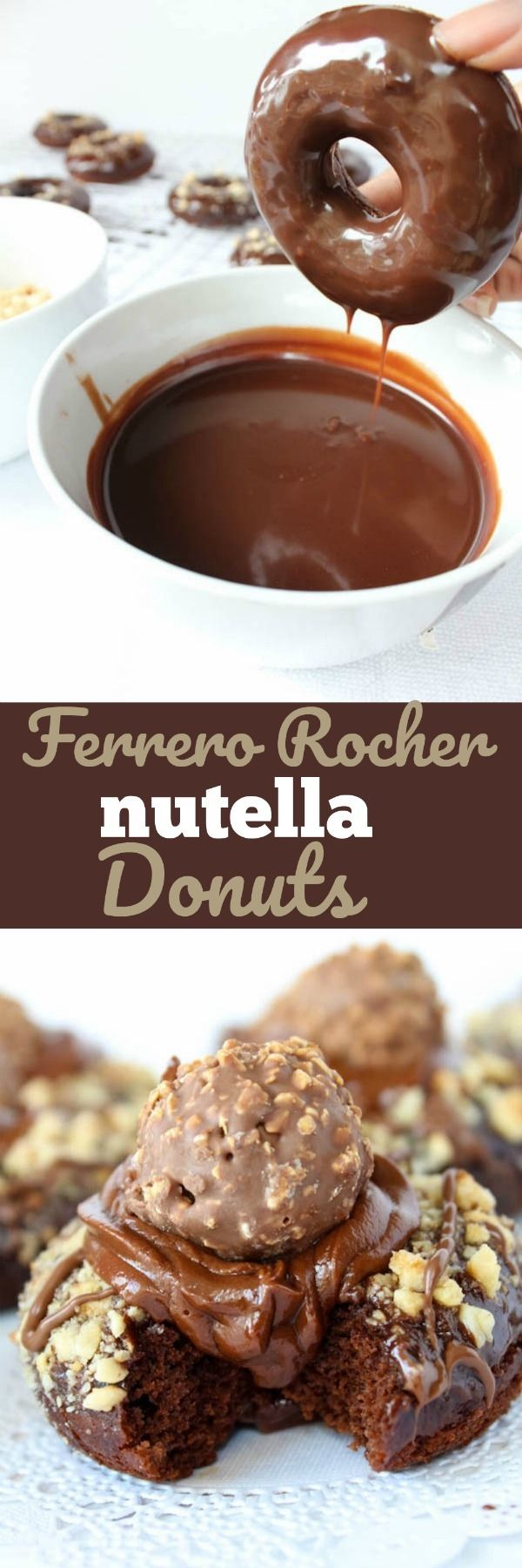 Ferrero Rocher Nutella Donuts! Find the recipe on queensleeappetit.com