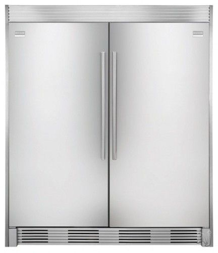 frigidaire all fridge and all freezer, side by side with double trim kit