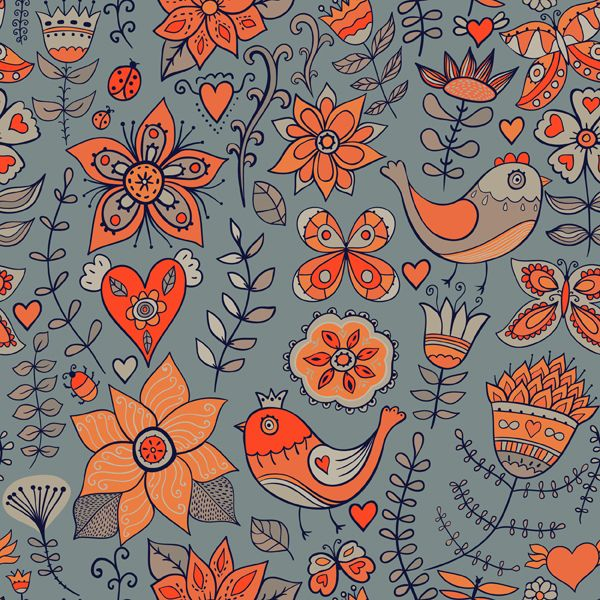 Romantic floral pattern by Pridumala