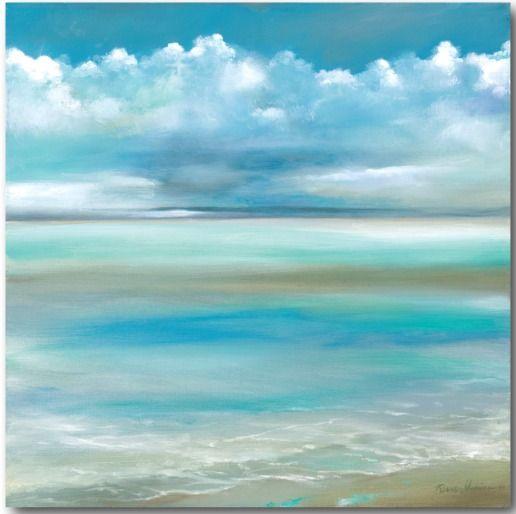 Gorgeous Ocean Beach Art Canvas... http://www.beachblissdesigns.com/2017/01/blue-sky-and-ocean-beach-art-canvas.html