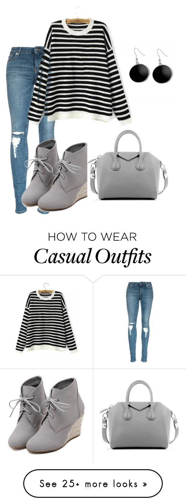 """""""casual"""" by pashion1for2fashion on Polyvore featuring WithChic, Givenchy, Karen Kane, women's clothing, women, female, woman, misses and juniors"""