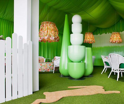 Spring Garden With Style At Melbourne Cup Restaurant InteriorsRestaurant DesignMelbourne