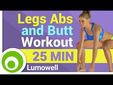 Legs, Abs and Buttocks Workout - L.A.B. Exercise - YouTube