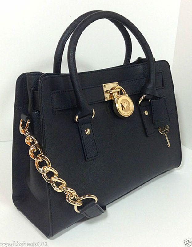8adfd15e385 michael kors hamilton satchel black discontinued 257 frames ...