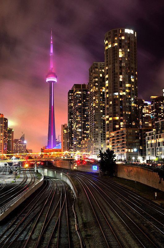 Magical CN tower, Toronto, Ontario. #travel-paradise divine, canada