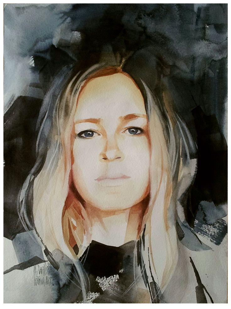 Watercolor/ Trude/ 45x32 cm/ QoR