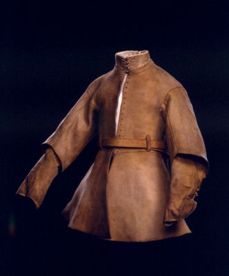 Buff coat from a harquebusier's' armour possibly for Alexander Popham. English, about 1630