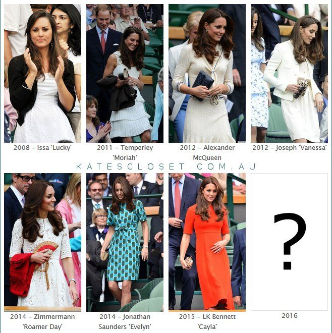 """Kate's Closet on Twitter: """"Any predictions on what the #duchessofcambridge might wear to #Wimbledon semi finals today?"""