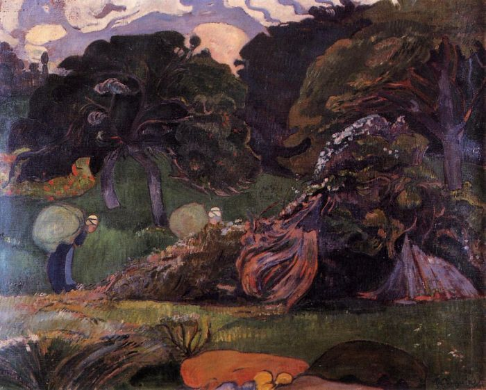 Brittany Landscape : Paul Gauguin : Museum Art Images : Museuma