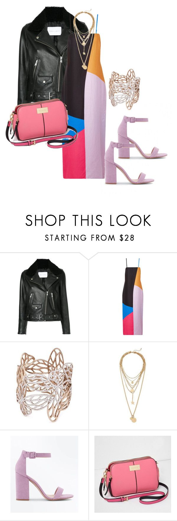 """""""Untitled #4130"""" by emma-oloughlin ❤ liked on Polyvore featuring Nobody Denim, Mara Hoffman, Anyallerie, Rebecca Minkoff, New Look and River Island"""