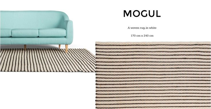 Dhurries Mogul Rug 170 x 240cm in white | made.com