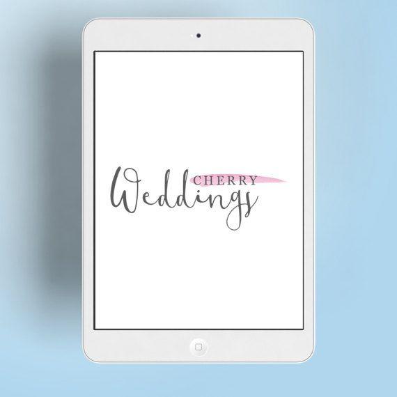 Premade Logo Watercolor Logo Wedding Logo by MartaCostaStudio