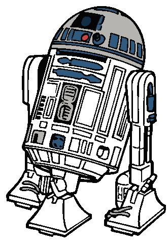 R2D2 Clipart - Star Wars | Star wars images, Star wars ...