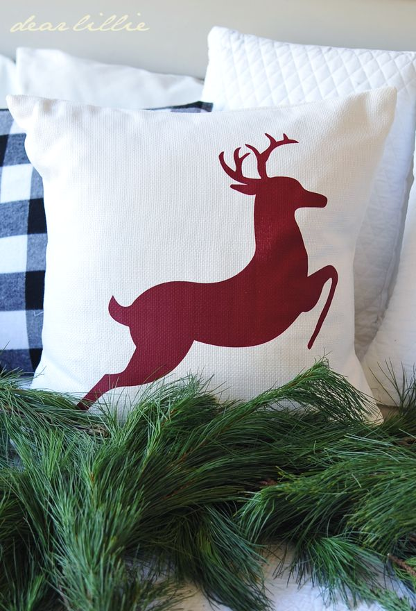 reindeer pillow by dear lillie