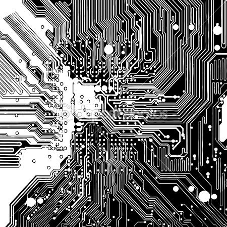 Computer circuit board (vector)