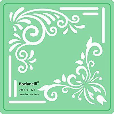 Art Craft graphique Motif dessin Dessin Pochoir - Feuilles Fleurs coins: Amazon.fr: Fournitures de bureau