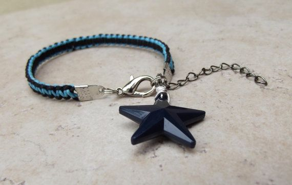 Nautical Star Bracelet  Navy Blue and Black by SherryKayDesigns, $18.00