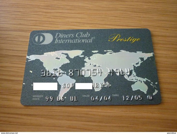 Griechenland Diners Club Prestige Bank Credit Card  World Map
