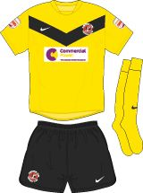 Fleetwood Town away kit for 2012-13.