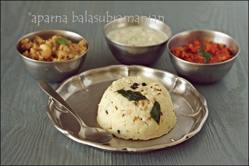 Pongal With A Simple Coconut Chutney & Tomato Chutney