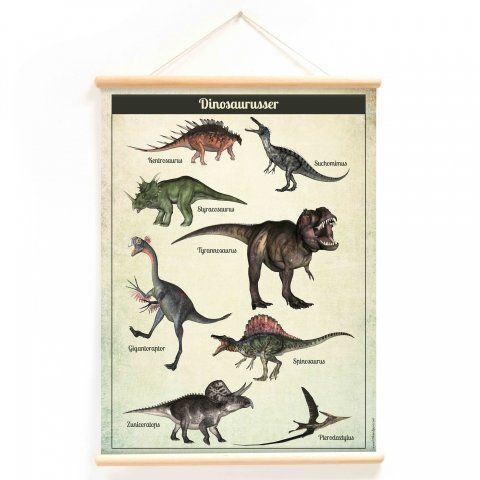 Little & Pure vintage plakat - Dinosaurus
