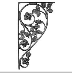 decorative metal shelf bracket cast iron brackets brackets corbels iron accents - Decorative Metal Shelf Brackets