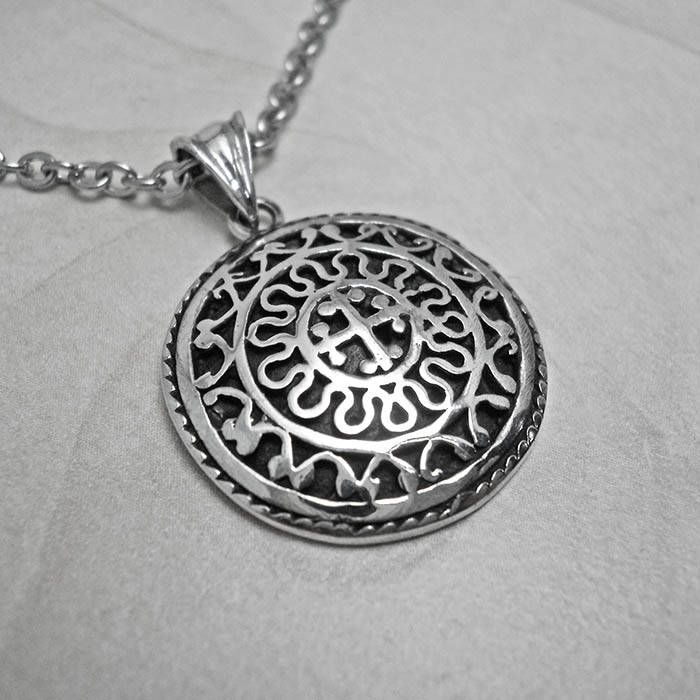 Excited to share the latest addition to my #etsy shop: Silver necklace,mens cross pendant,mens necklace,mens pendant,Silver mens pendant,byzantine necklace,cross shield pendant,byzantine pendant http://etsy.me/2izIYfA #jewelry #necklace #silver #women #black #religious #circle #c