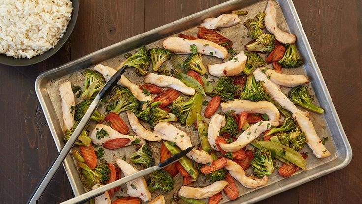 Stir-fry just got even easier with this super-simple sheet-pan dinner recipe that requires almost no effort but is still full of sweet and spicy Asian flavors.