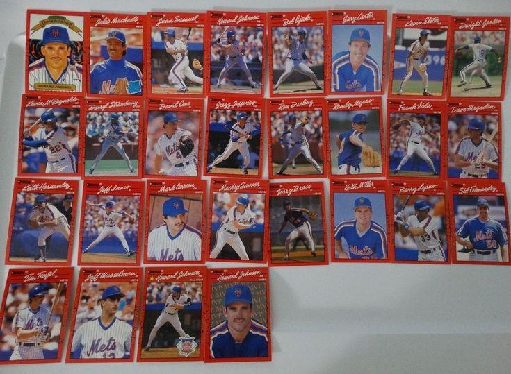1990 Donruss New York Mets Team Set of 28 Baseball Cards #NewYorkMets