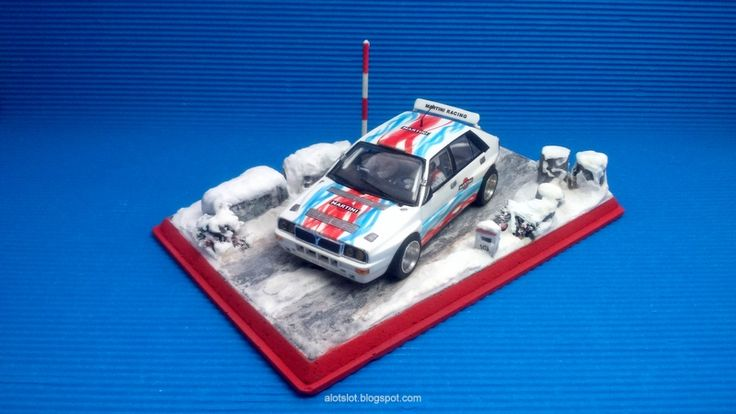 Slot car snow