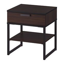 Trysil Nightstand Dark Brown Black 17 34x15 34 Ikea How
