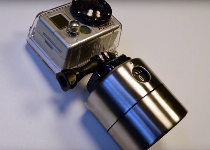 clicklikethis.com | Easy DIY GoPro rotating time lapse mount made out of an egg timer #gopro #DIY #photography