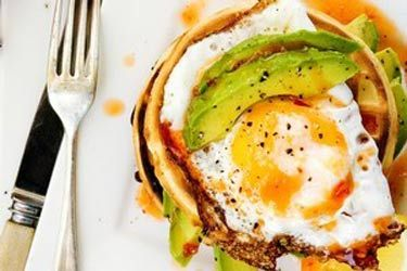 Avocado waffles with chilli and lemon – Recipes – Bite