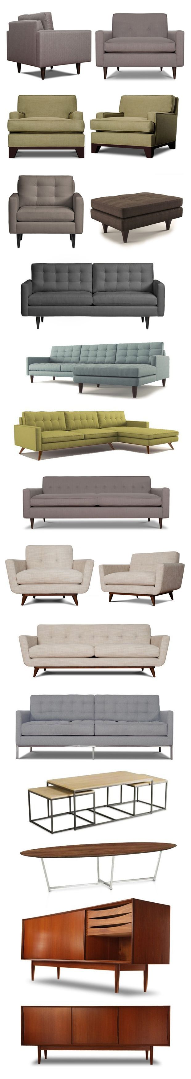Mid century modern furniture. #sofas #wooden #woodwork #wood #vintage #decor…