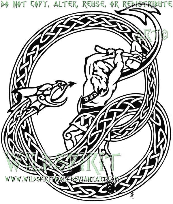 Thor Midgard Serpent Tattoo By Wildspiritwolf On