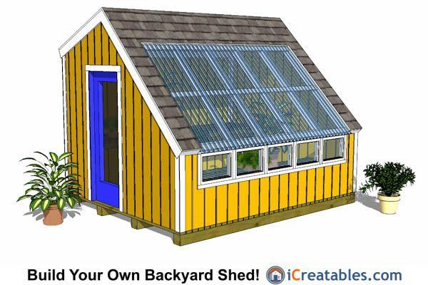 10x12 Greenhouse Plans 10x12 Shed Plans Pinterest