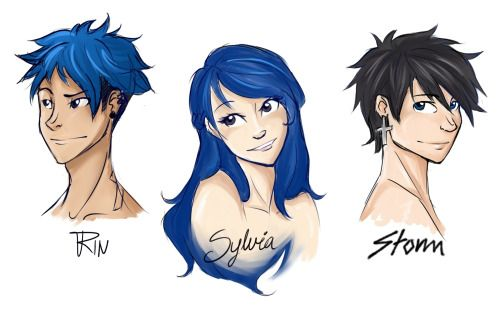 Rin, Sylvia and Storm fairy tail next gen
