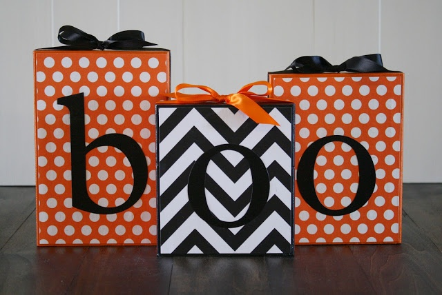 A Diamond in the Stuff: October Make and Take {BOO Blocks}