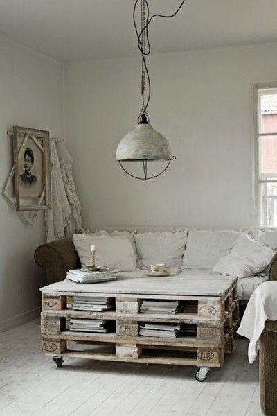 pallet wood coffeetable...Via Design Squish