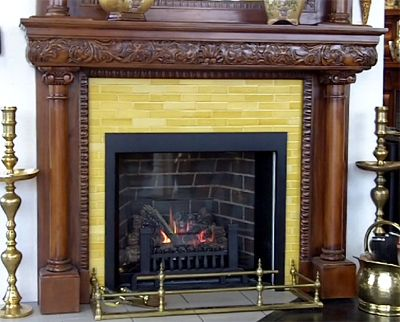 """Reproduction tiles for fireplace projects. These are replicas of the 1-1/2"""" x 6"""" tiles used on Victorian era fireplaces"""
