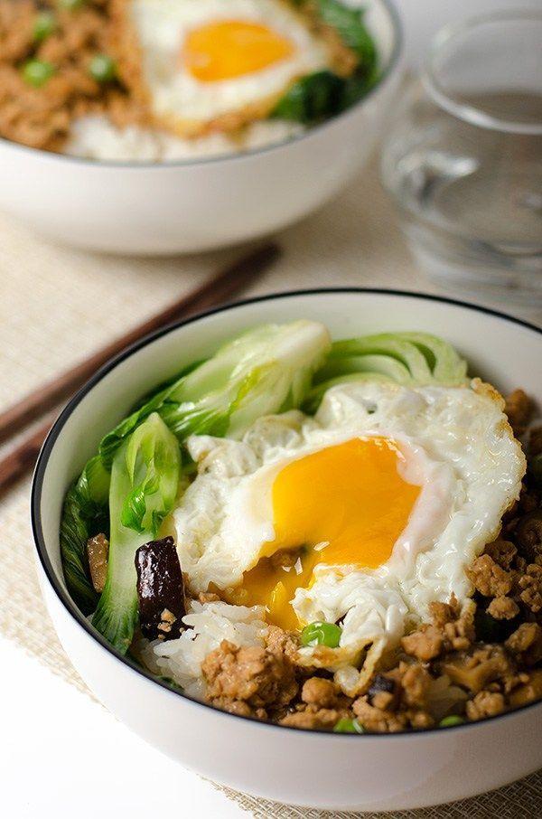 Chinese ground chicken bowl   Omnivore's Cookbook