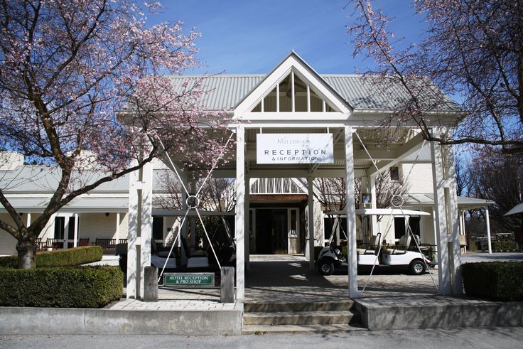 Our reception with lovely cherry blossoms!
